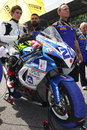 Mathew scholtz on suzuki gsx r ns suriano corse supersport wss riding with at world championship monza Stock Photos