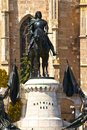 Mathias rex statue of the king in cluj napoca romania Royalty Free Stock Photography