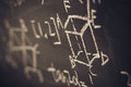 Maths Formulas On Chalkboard B...
