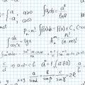 Maths seamless pattern Royalty Free Stock Photo