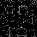 Maths seamless pattern Royalty Free Stock Images