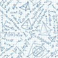 Maths seamless pattern. Royalty Free Stock Photo