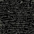 Maths seamless pattern. EPS 8 Royalty Free Stock Photo