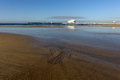Matosinhos beach during low tide Royalty Free Stock Photo