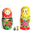 Matreshka line isolated Stock Photos