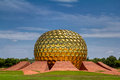 Matri mandir a grand view of the pondicherry india Stock Photo