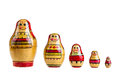 Matrioshka a set of russian dolls isolated over a white background Stock Image