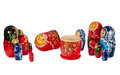 Matrioshkas russian culture objects dolls Royalty Free Stock Photography