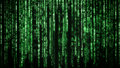 Matrix background with the green symbols Royalty Free Stock Photos