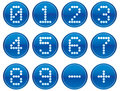 Matrix digits icons set. Royalty Free Stock Photo