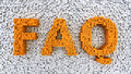 Matrix faq word made from orange on the white background Royalty Free Stock Photography