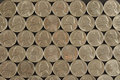 Matrix of Nickels Royalty Free Stock Images