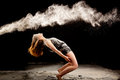 Matrix powder dance pose Royalty Free Stock Photo