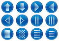 Matrix symbols icon set. Royalty Free Stock Images