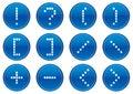 Matrix symbols icon set. Royalty Free Stock Image