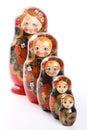Matryoshka кукол гнездилось русский Стоковая Фотография