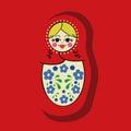 Matryoshka vector Royalty Free Stock Photo