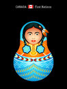 Matryoshka canada matryoshkas of the world first nations girl in regalia Royalty Free Stock Images