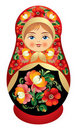 Matryoshka doll with Russia flower o Royalty Free Stock Photography