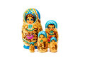 Matryoshka dolls a complete set of doll valuing family bonding Royalty Free Stock Photo