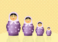 Matryoshka dolls illustration of traditional doll russian Stock Photo
