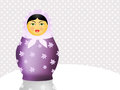 Matryoshka dolls illustration of traditional doll russian Royalty Free Stock Photos