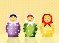 Matryoshka dolls illustration of traditional doll russian Stock Image