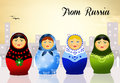 Matryoshka dolls illustration of traditional russian Royalty Free Stock Image
