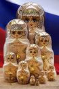 Matryoshka dolls russian nesting dolls a doll also known as a doll is a set of wooden of decreasing size placed one inside the Royalty Free Stock Image