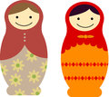 Matryoshka dolls vector pack of Royalty Free Stock Photography