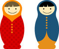 Matryoshka dolls vector pack of Royalty Free Stock Images