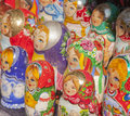 Matryoshka nesting wooden russian dolls are the best known and most popular of all souvenirs Stock Image