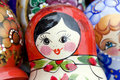 Matryoshka russian face Royalty Free Stock Image