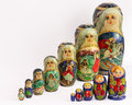 Matryoshka russian nested dolls also known as hand painted beautiful and colorful Royalty Free Stock Photo