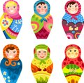 Matryoshka set Royalty Free Stock Image