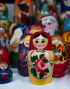 Matryoshka a shot of russian dolls Royalty Free Stock Photos