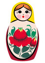 Matryoshka surprised a color vector illustration of a russian traditional doll souvenir also known as russian nesting nested dolls Stock Images