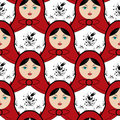 Matryoshka tile seamless pattern design Stock Photo
