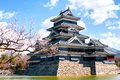 Matsumoto castle nagano japan is one of the most complete and beautiful among s original castles Stock Image