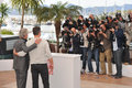 Matt damon michael douglas at photocall for their movie behind the candelabra at the th festival de cannes may cannes france Stock Photos