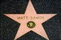 Matt Damon Star on the Hollywood Walk of Fame Royalty Free Stock Photo