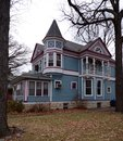 Matt helberg this is a picture of the house in blue island illinois the house was designed by ben l batman is an example of the Stock Photography