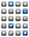 Matt miscellaneous buttons Royalty Free Stock Photo