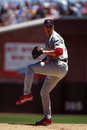 Matt morris st louis cardinals former pitcher image taken from color slide Royalty Free Stock Images