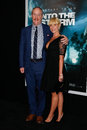 Matt walsh morgan walsh new york aug actor l and wife attend the into the storm premiere at the amc lincoln square theater on Royalty Free Stock Photography
