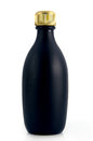 Matte black bottle Royalty Free Stock Image