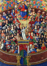 Matteo da Milano: miniatures from the breviary of Alfonso I d Este: All Saints Royalty Free Stock Photo