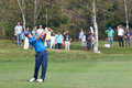 Matteo manassero ita hits his tee shoot on th hole torino italy september italian open golf club torino italian national open golf Royalty Free Stock Images