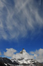 Matterhorn cloudy and sky switzerland Stock Photography