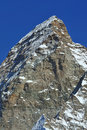 The Matterhorn and the Hornli ridge Royalty Free Stock Image